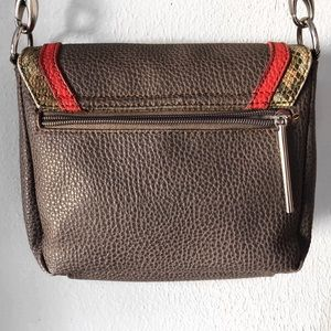 Paquetage Bags - PAQUETAGE SNAKESKIN BROWN RED BAG CROSSBODY PURSE